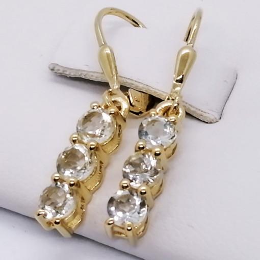 Cercei delicati- SERENA-argint placat cu aur- VE014969-ametist verde