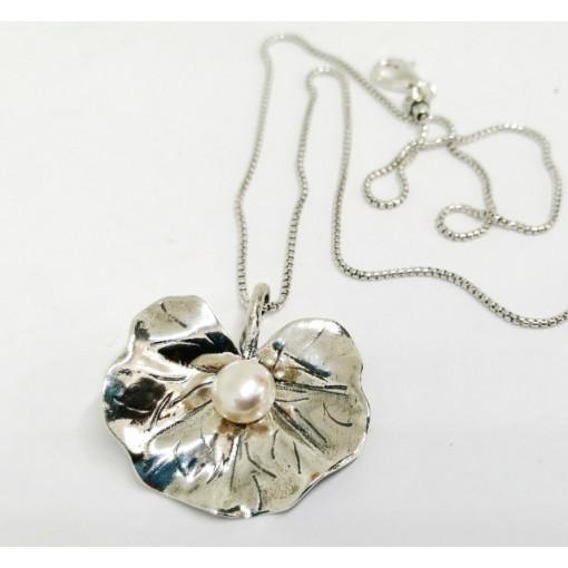 Colier argint perla N4665