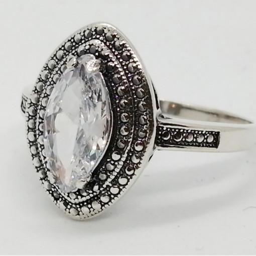 Inel argint cubic zircon R1696