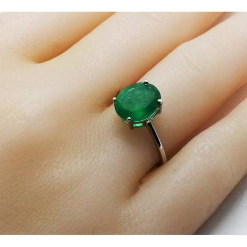 Inel delicat din argint cu onix verde -VR015153