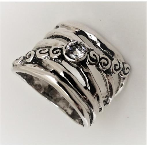 Inel din argint si zircon R11558