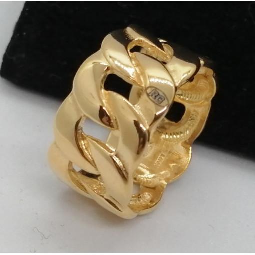 Inel RAVVENA-zale-argint placat cu aur -ANPI0687PLGIA