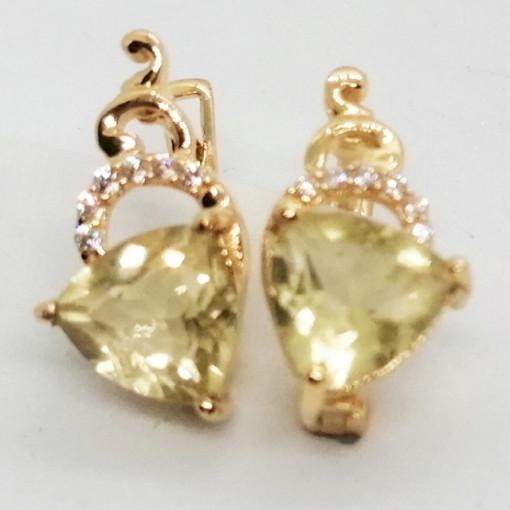 Alicia -cercei- argint placat cu aur -VE027629 lemon topaz