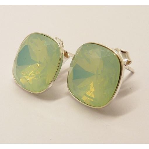 Cercei argint cristal E2604- verde menta de apa
