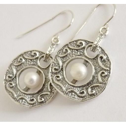 Cercei argint cu perla E2077
