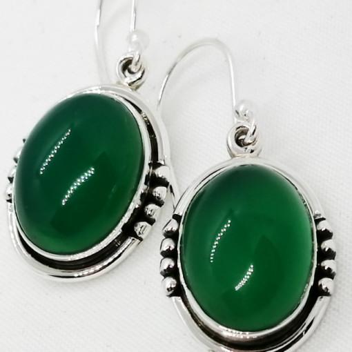 Cercei argint- E016 onix verde