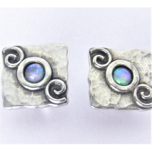 Cercei argint OPAL-inchidere surub E1562C