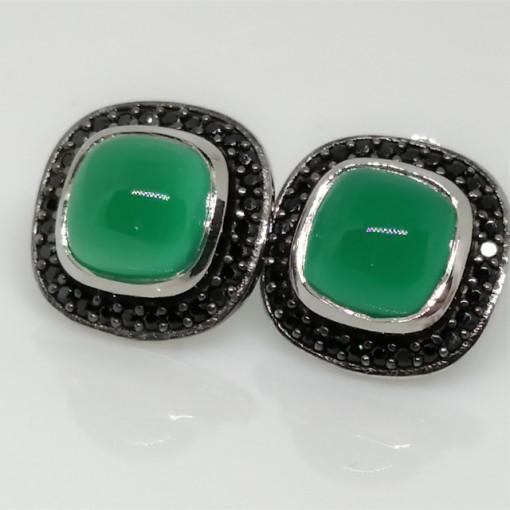 Cercei argint -VE031714 onix verde