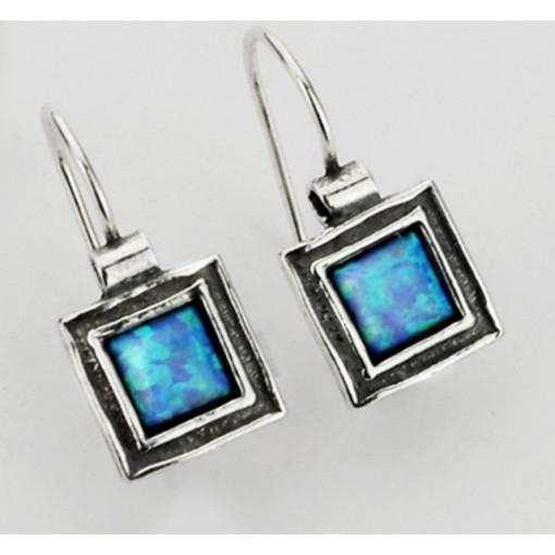 Cercei din argint E057 opal