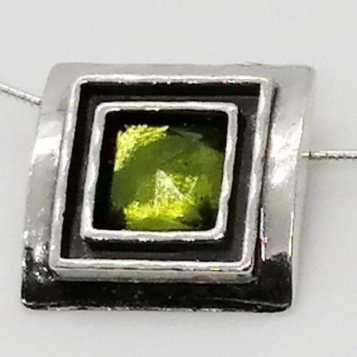 Colier argint N1844 peridot