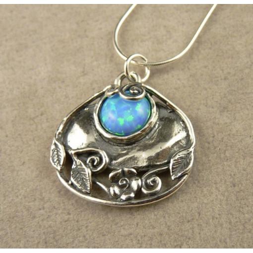 Colier argint opal R2258