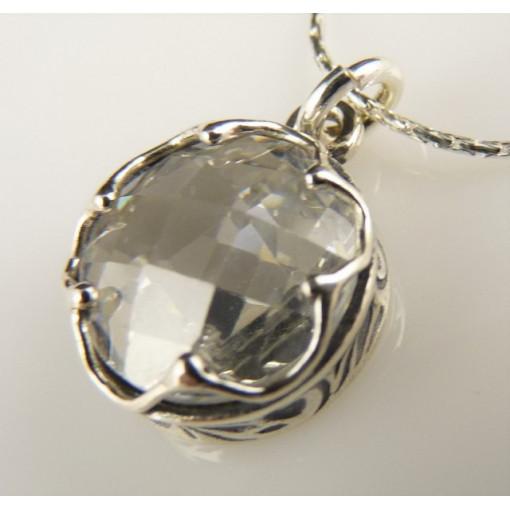 Colier argint zircon N2383