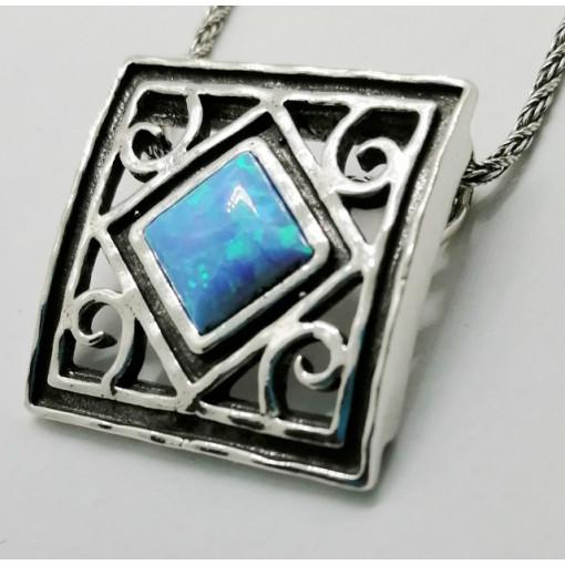 Colier din argint opal N1699