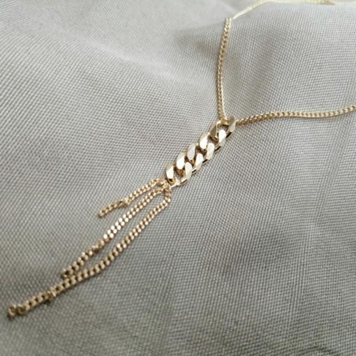 Colier ROMA-argint placat cu aur galben -N-SETS0074AGGRU