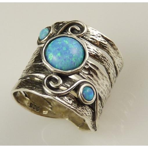 Inel argint cu opal nobil R7996