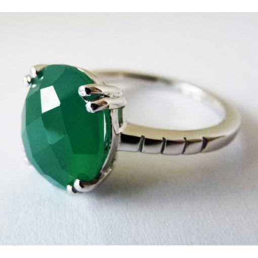 Inel argint onix verde -VR05298