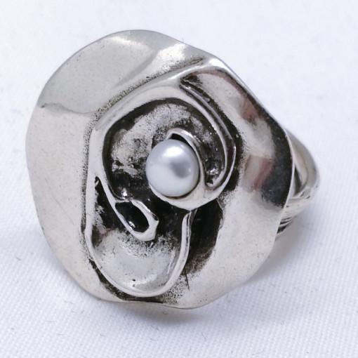 Inel argint perla R5874