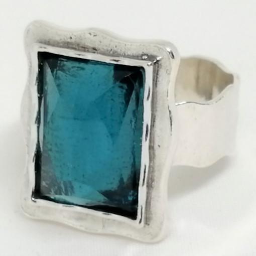 Inel argint -R2954- blue topaz