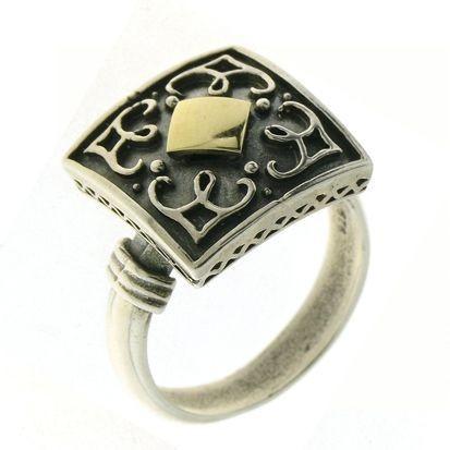 Inel argint si aur 9k -10215