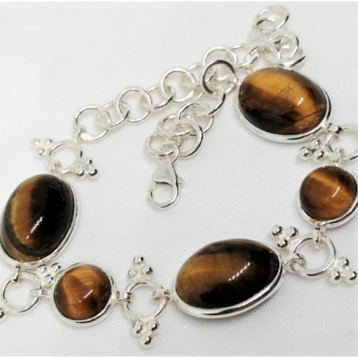 Bratara argint - BR54-ochi de tigru