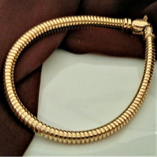 Bratara argint placata cu aur-tub -BRSI0108PL5GI