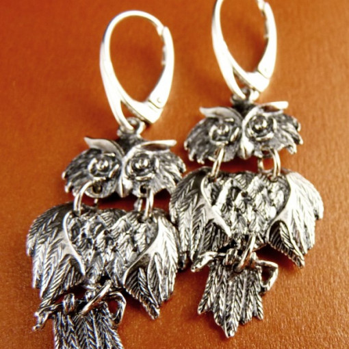 Cercei Argint 925 -E1082-Bufnita