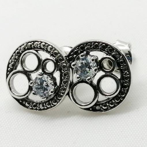 Cercei argint cu surub -zircon -E3443