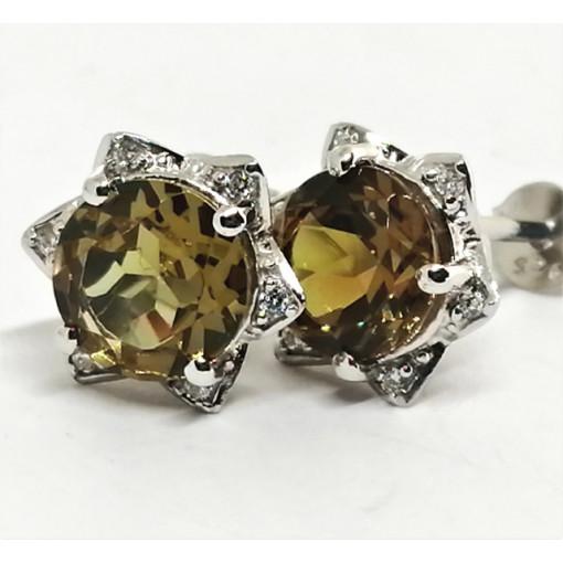 Cercei delicati din argint cu surub VE015767-nano zultanit