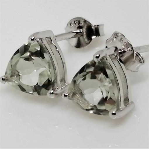 Cercei delicati din argint cu surub VE015851-ametist verde