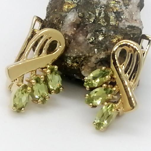 Cercei Ivona- argint placat cu aur si peridot VE027509
