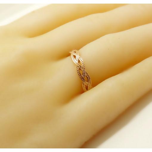 Inel argint placat cu aur roz - ANJJ0758PLROS