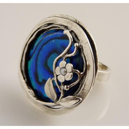 Inel argint R859 - abalon