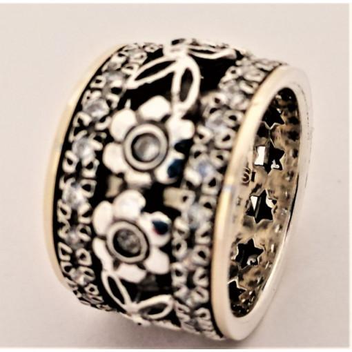 Inel argint si aur 14k -RG10-27