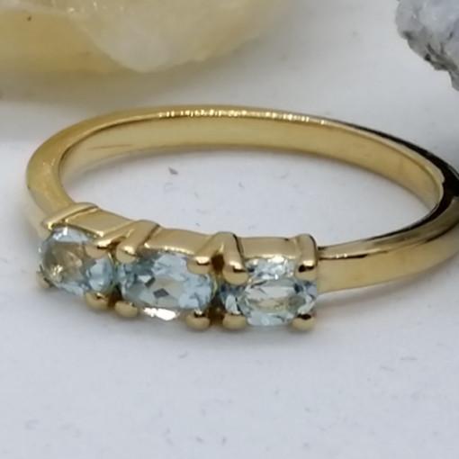 Inel Cecilia-argint placat si aur -Topaz VR014820