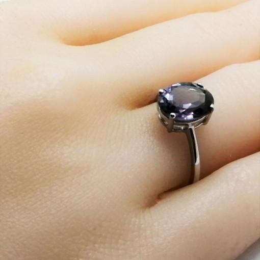 Inel delicat din argint cu alexandrit -VR015153