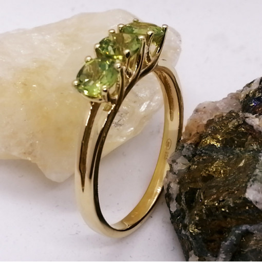Inel Stela-argint placat si aur -peridot - VR033541