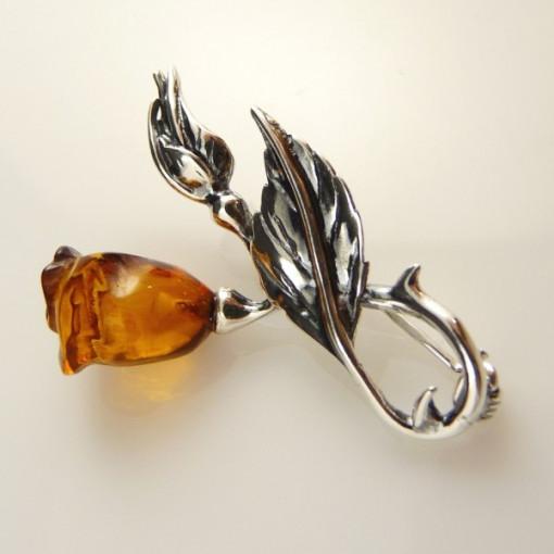 Brosa argint chihlimbar BRO492