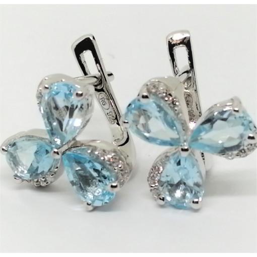 Cercei argint blue topaz -VE013772