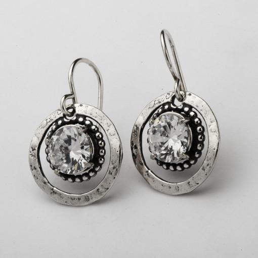 Cercei argint E1677- cubic zirconia