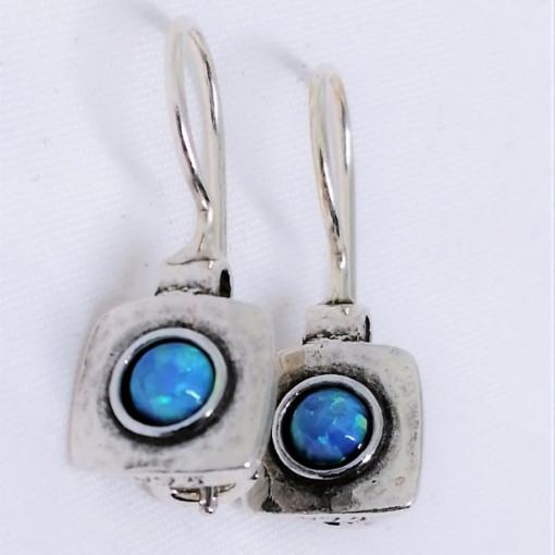 Cercei argint opal E1684B