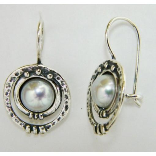 Cercei argint perla-E1432