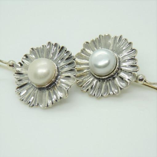 Cercei argint si perla E4843