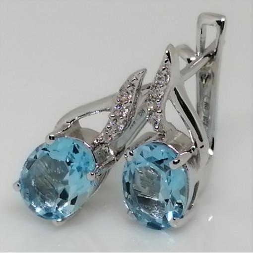 Cercei argint topaz-E4369B