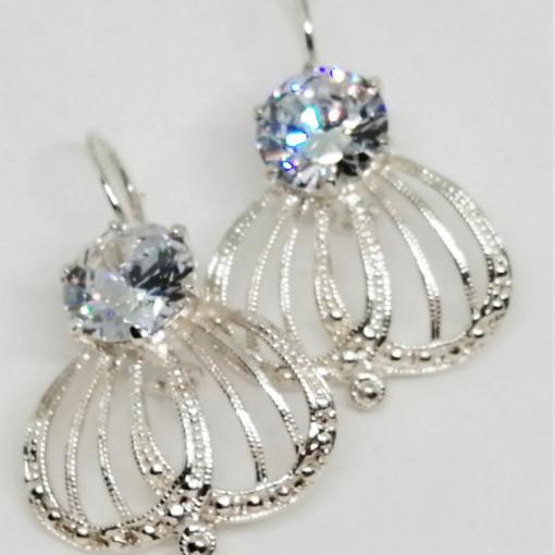 Cercei argint -zircon - E2806