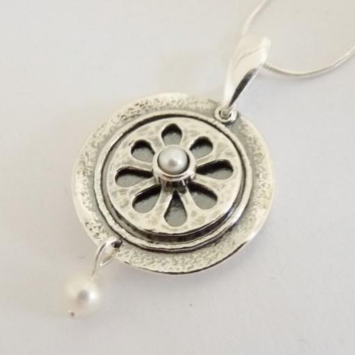 Colier argint perla N123-1481