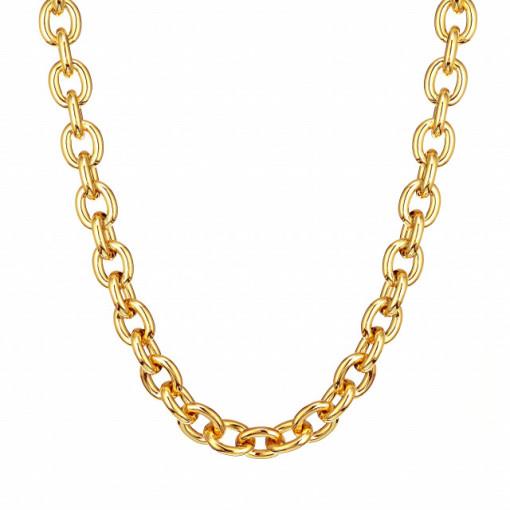 Colier NAPOLI-argint placat cu aur galben-CTJJ0012AG