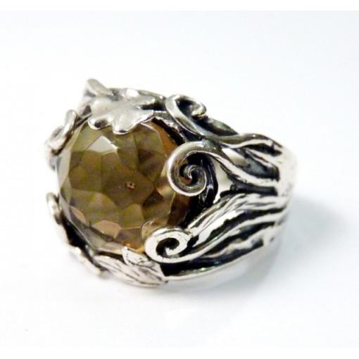 Inel argint R5705 - cuart fumuriu