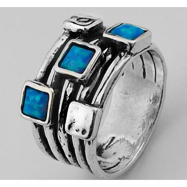 Inel argint si opal imperial R508