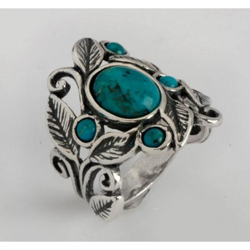 Inel argint turcoaz- R1227