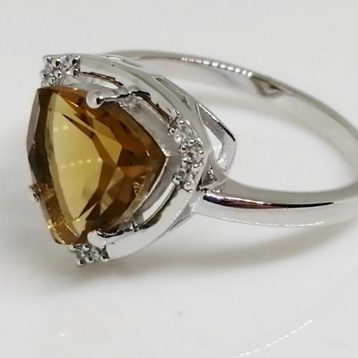 Inel argint VR016161-Whisky Quartz